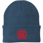 Bonnet Brodé - Red Bear Paw
