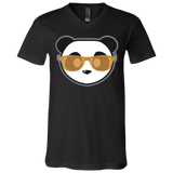 T-Shirt col V Unisexe - Stuffed Antic Gold Beach Panda