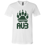 T-Shirt col V Unisexe - Forest Green Bear Paw