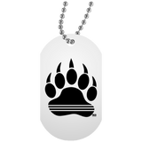 Collier Dog Tag - Black Bear Paw