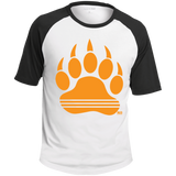 T-shirt Raglan Homme - Orange Bear Paw
