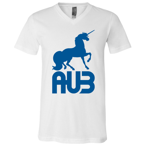 T-Shirt col V Unisexe - Royal Blue Unicorn