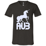 T-Shirt col V Unisexe - White Unicorn