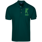 Polo Homme Brodé - Kelly Green Dancing Bear