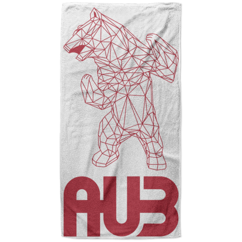 Serviette de plage King Size - Red Origami Bear