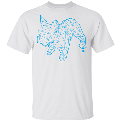 T-Shirt Classique Homme - Blue Origami French Bulldog II