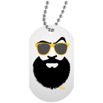 Collier Dog Tag - Yellow Beach Beard