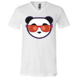 T-Shirt col V Unisexe - Stuffed Red Beach Panda