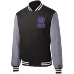 Veste Teddy Homme Brodée - Purple Bear Paw