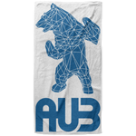 Serviette de plage King Size - Royal Blue Origami Bear II