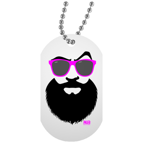 Collier Dog Tag - Pink Beach Beard