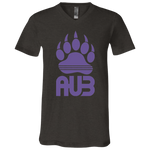 T-Shirt col V Unisexe - Purple Bear Paw