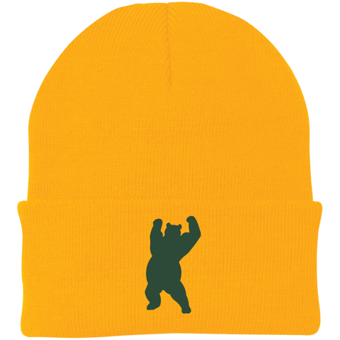 Bonnet Brodé - Forest Green Dancing Bear