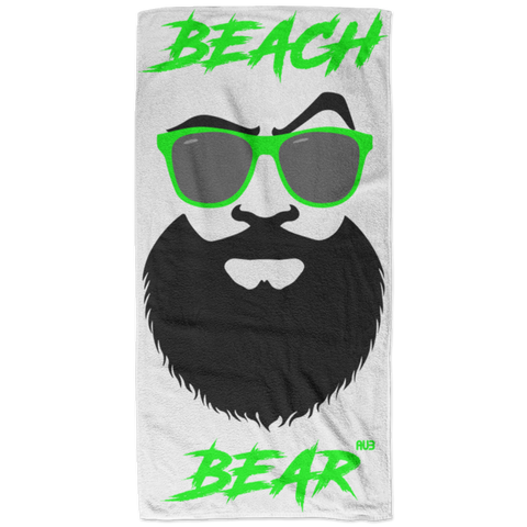 Serviette de plage - Green Beach Bear