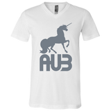 T-Shirt col V Unisexe - Grey Unicorn