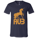 T-Shirt col V Unisexe - Antic Gold Unicorn