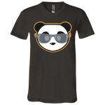 T-Shirt col V Unisexe - Stuffed Grey Beach Panda