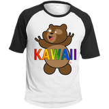 T-shirt Raglan Homme - Kawaii Bear