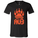 T-Shirt col V Unisexe - Orange Bear Paw