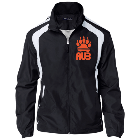 Veste Colorblock Homme Brodée - Orange Bear Paw