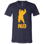 T-Shirt col V Unisexe - Athletic Gold Dancing Bear