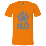 T-Shirt col V Unisexe - Grey Bear Paw