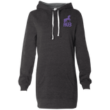 Robe Sweatshirt Brodée - Purple Unicorn