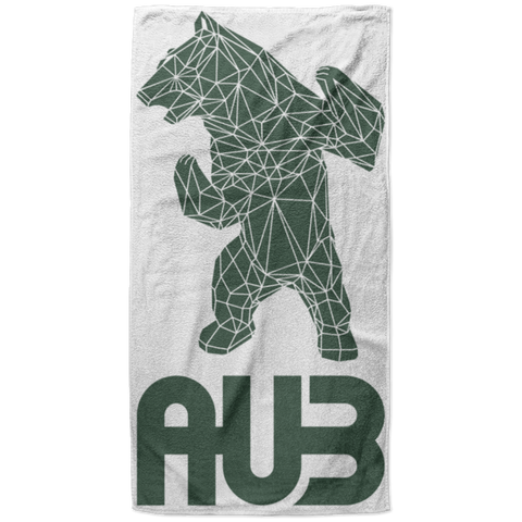 Serviette de plage King Size - Forest Green Origami Bear II