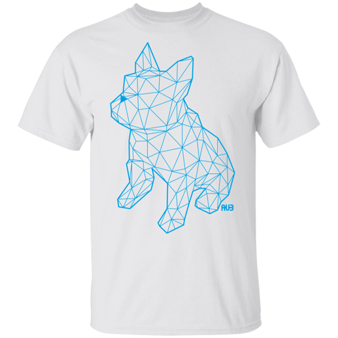 T-Shirt Classique Homme - Blue Origami French Bulldog I