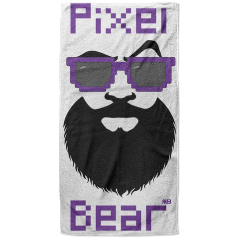 Serviette de plage King Size - Purple Pixel Bear