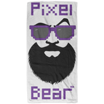 Serviette de plage - Purple Pixel Bear