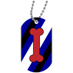Collier Dog Tag - Puppy Flag