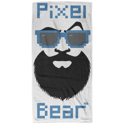Serviette de plage - California Blue Pixel Bear