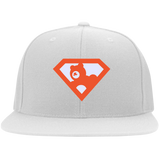 Casquette Snapback Brodée - Orange Super AUB