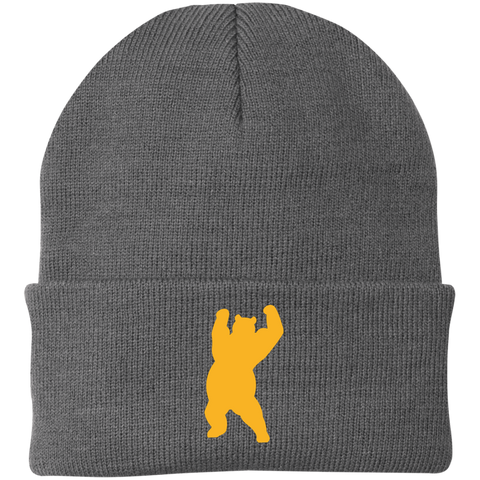 Bonnet Brodé - Athletic Gold Dancing Bear