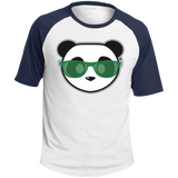 T-shirt Raglan Homme - Kelly Green Beach Panda