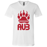 T-Shirt col V Unisexe - Red Bear Paw