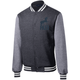 Veste Teddy Homme Brodée - Navy Blue Unicorn