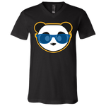 T-Shirt col V Unisexe - Royal Blue Beach Panda
