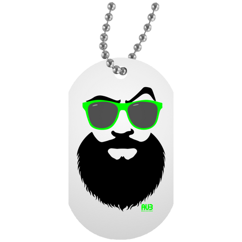 Collier Dog Tag - Green Beach Beard
