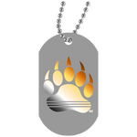 Collier Dog Tag - Bear Rainbow Paw