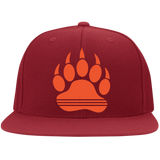 Casquette Snapback Brodée - Orange Bear Paw