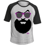 T-shirt Raglan Homme - Purple Beach Beard