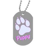 Collier Dog Tag - Dog Paw Puppy BB Font