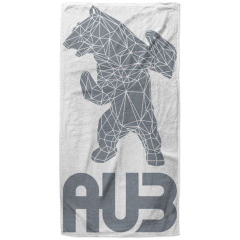 Serviette de plage King Size - Grey Origami Bear II