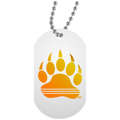 Collier Dog Tag - Gold Bear Paw