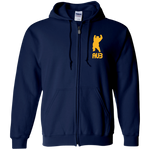 Veste Hoodie Unisexe Brodée - Athletic Gold Dancing Bear AUB