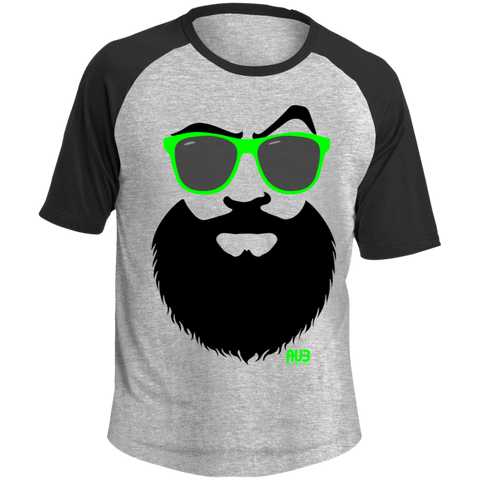 T-shirt Raglan Homme - Green Beach Beard