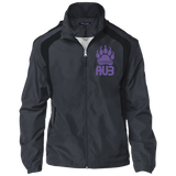 Veste Colorblock Homme Brodée - Purple Bear Paw