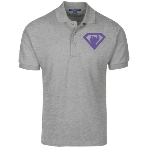 Polo Homme Brodé - Purple Super Bear